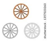 wild west wheel vector icon   Shutterstock .eps vector #1357023263