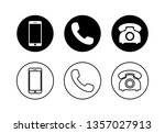 phone icon vector. set of phone ... | Shutterstock .eps vector #1357027913
