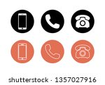 phone icon vector. set of phone ... | Shutterstock .eps vector #1357027916