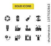 ecology icons set with sea...
