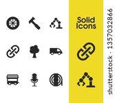 service icons set with caravan  ...