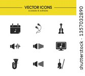 music icons set with guitar ...
