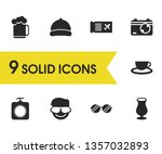 seasonal icons set with tanning ... | Shutterstock .eps vector #1357032893