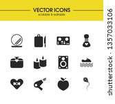 lifestyle icons set with kite ... | Shutterstock .eps vector #1357033106
