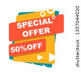 sale banner template design ... | Shutterstock .eps vector #1357044020