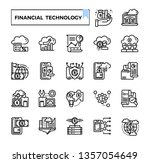financial technology  fintech ...   Shutterstock .eps vector #1357054649