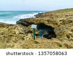 The Blue Cave In Dor Habonim...