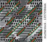 urban camo slogan with ribbon ...   Shutterstock .eps vector #1357058666