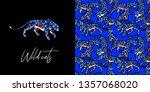leopard print. trend print with ... | Shutterstock . vector #1357068020