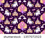 mermaids  magic unicorns ... | Shutterstock .eps vector #1357072523