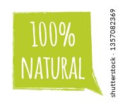 eco 100 percent natural label ... | Shutterstock .eps vector #1357082369
