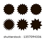 set of vector black price tag... | Shutterstock .eps vector #1357094336
