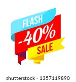 up to 40 percent sale banner on ... | Shutterstock . vector #1357119890