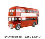 red english bus isolated on... | Shutterstock . vector #135712340