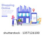 web page design template for...   Shutterstock .eps vector #1357126100