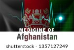 afghanistan flag and heartbeat... | Shutterstock .eps vector #1357127249