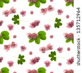 Small photo of seamless floral pattern with akebia flowers