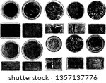 big collection of grunge post... | Shutterstock .eps vector #1357137776