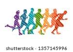 running marathon  people run  ... | Shutterstock .eps vector #1357145996