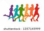 running marathon  people run  ...   Shutterstock .eps vector #1357145999