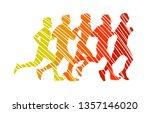 running marathon  people run  ... | Shutterstock .eps vector #1357146020