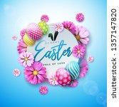 happy easter holiday design...   Shutterstock .eps vector #1357147820