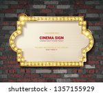 marquee light gold board sign... | Shutterstock . vector #1357155929