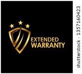 lifetime warranty golden label...   Shutterstock .eps vector #1357160423