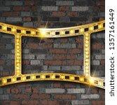 film strip gold. vintage ribbon ... | Shutterstock . vector #1357161449