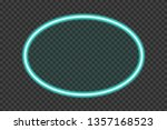neon frame. bright turquoise... | Shutterstock .eps vector #1357168523