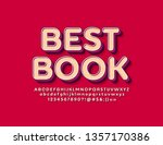 vector stylish logo best book... | Shutterstock .eps vector #1357170386