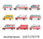 collection of ambulance service ... | Shutterstock .eps vector #1357170779