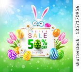 easter sale 50  off poster and... | Shutterstock .eps vector #1357170956
