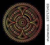 cross doodle sketch color... | Shutterstock .eps vector #1357171403