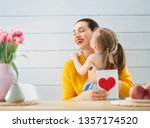 happy mother's day  child... | Shutterstock . vector #1357174520