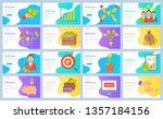 crowdfunding vector  hand with... | Shutterstock .eps vector #1357184156