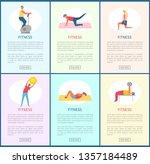 fitness websites with... | Shutterstock .eps vector #1357184489