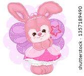 Cute Bunny Princess In Fairy...