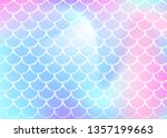 mermaid scales background with... | Shutterstock .eps vector #1357199663