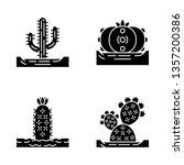wild cactuses in ground glyph... | Shutterstock .eps vector #1357200386