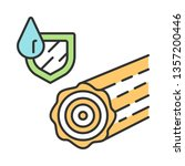 waterproof wood color icon.... | Shutterstock .eps vector #1357200446