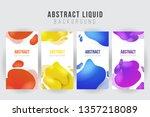 abstract liquid banner... | Shutterstock .eps vector #1357218089