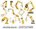 industrial robotic arms... | Shutterstock . vector #1357227689