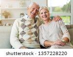 portrait of happy senior couple ... | Shutterstock . vector #1357228220