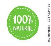 eco bio organic hand drawn... | Shutterstock .eps vector #1357234493