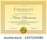 certificate. template diploma... | Shutterstock .eps vector #1357234580