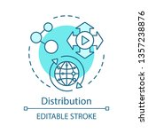 distribution concept icon. post ... | Shutterstock .eps vector #1357238876
