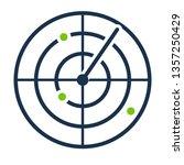 radar screen icon. clipart...   Shutterstock .eps vector #1357250429