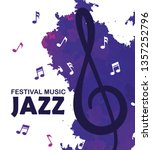 festival jazz day with music...   Shutterstock .eps vector #1357252796