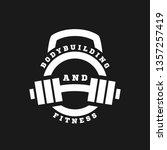 linear logo bodybuilding and... | Shutterstock .eps vector #1357257419
